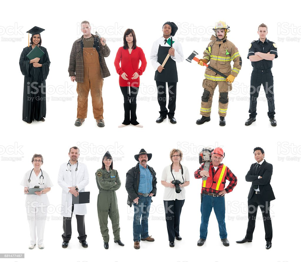 Occupations stock photo