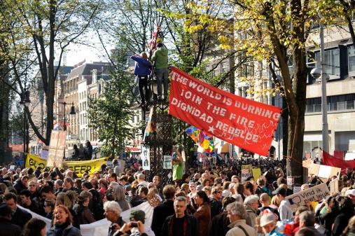istock Occupy Amsterdam gathering at Beursplein 459398213