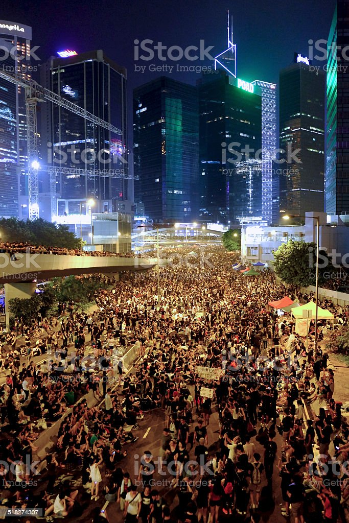 Occupy Central Hong Kong 2014 Artist stock photo
