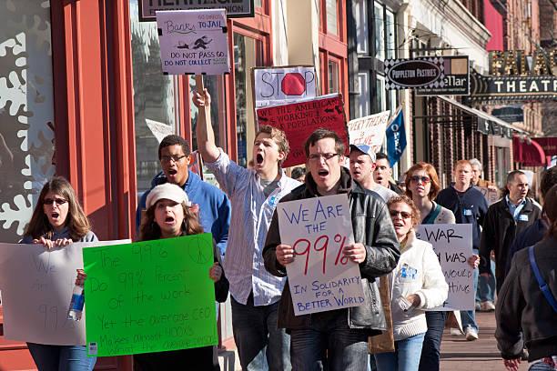 Occupy Corning Demonstration stock photo