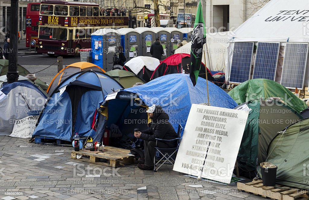 'Occupy London 2012' camp outside St Paul's Cathedral stock photo