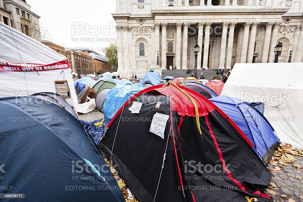 Occupy London Stock Exchange stock photo