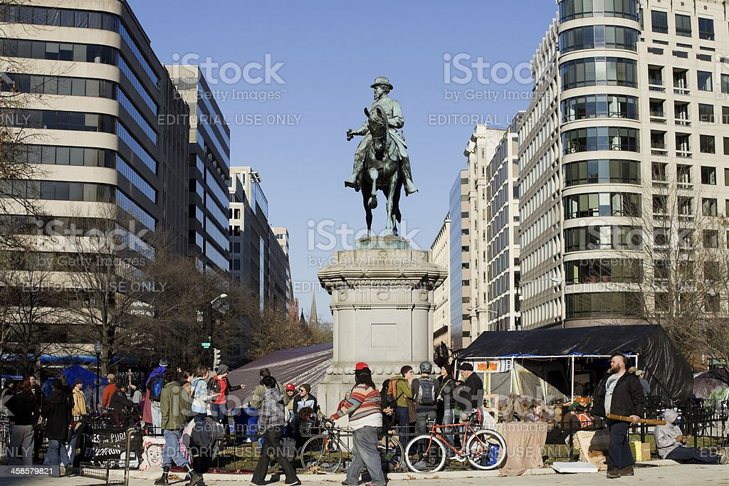 Occupy Movement, DC royalty-free stock photo