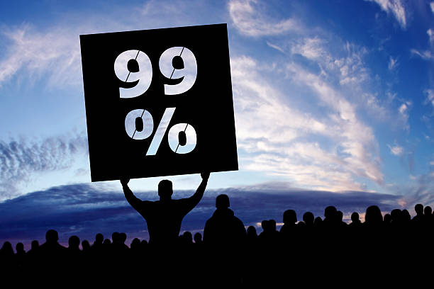 xxxl occupy movement protestors - uneven stock photos and pictures