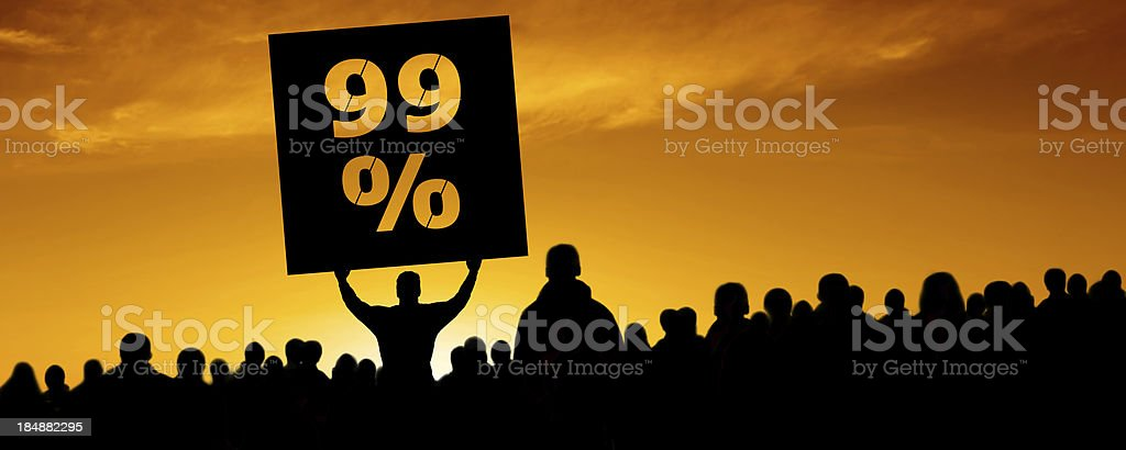 XXXL occupy movement protestors royalty-free stock photo