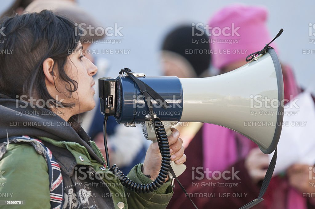 Occupy Nova Scotia Protester royalty-free stock photo
