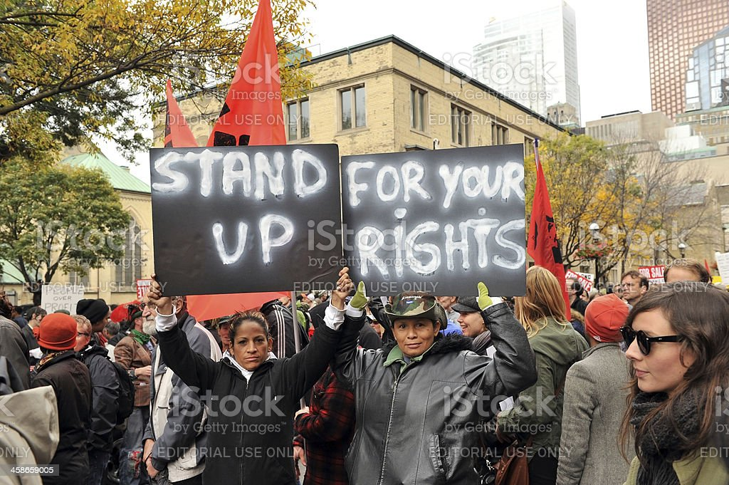 Occupy Protest in Toronto, Canada stock photo