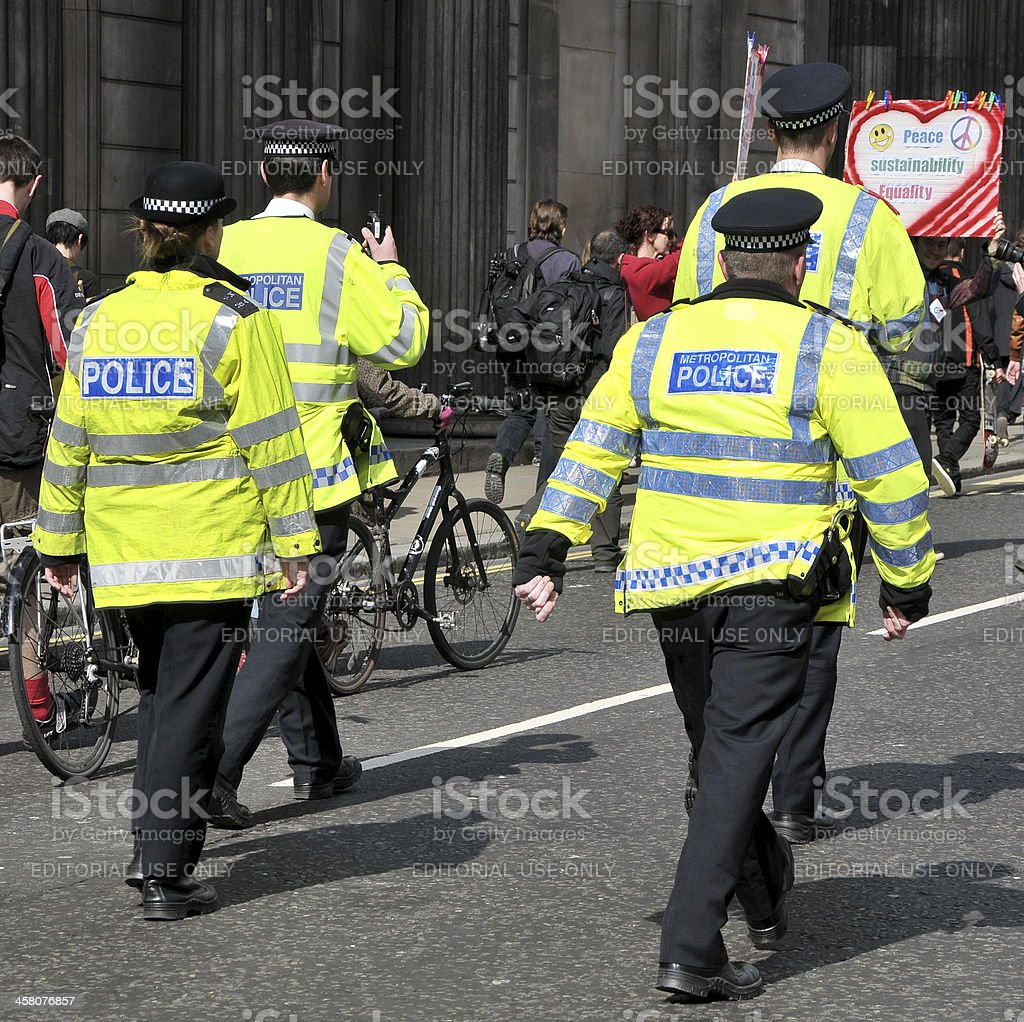 Occupy Protest March, London, UK royalty-free stock photo