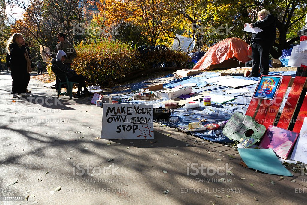 Occupy Toronto Demonstrations stock photo