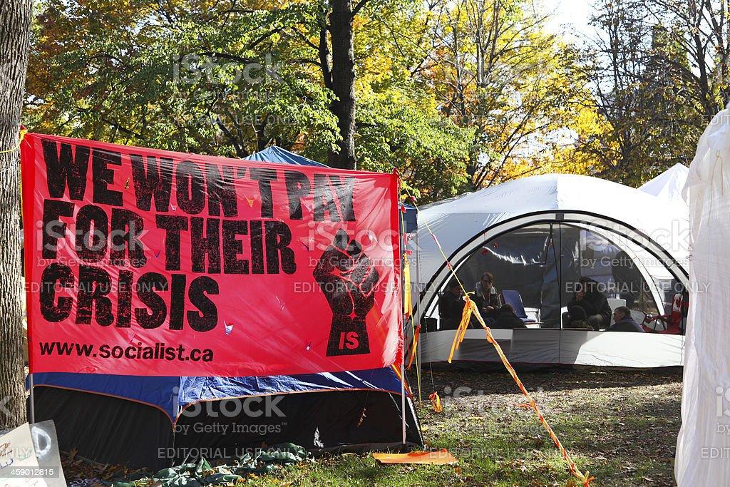 Occupy Toronto Demonstrations royalty-free stock photo