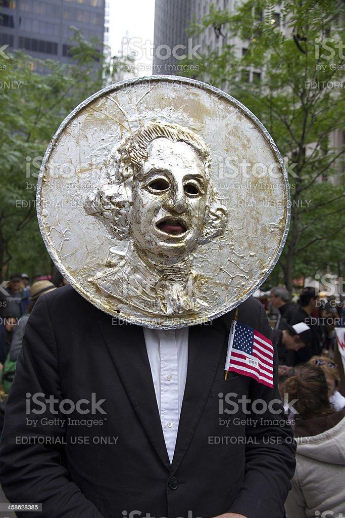 Occupy Wall Street at Zuccotti Park royalty-free stock photo