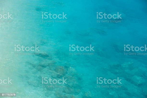Photo of Ocean aerial view turquoise blue sea water gradient