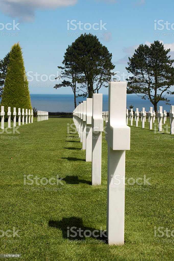 Ocean and graves royalty-free stock photo