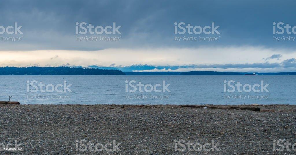 바다와 산 풍경 2 - 로열티 프리 0명 스톡 사진