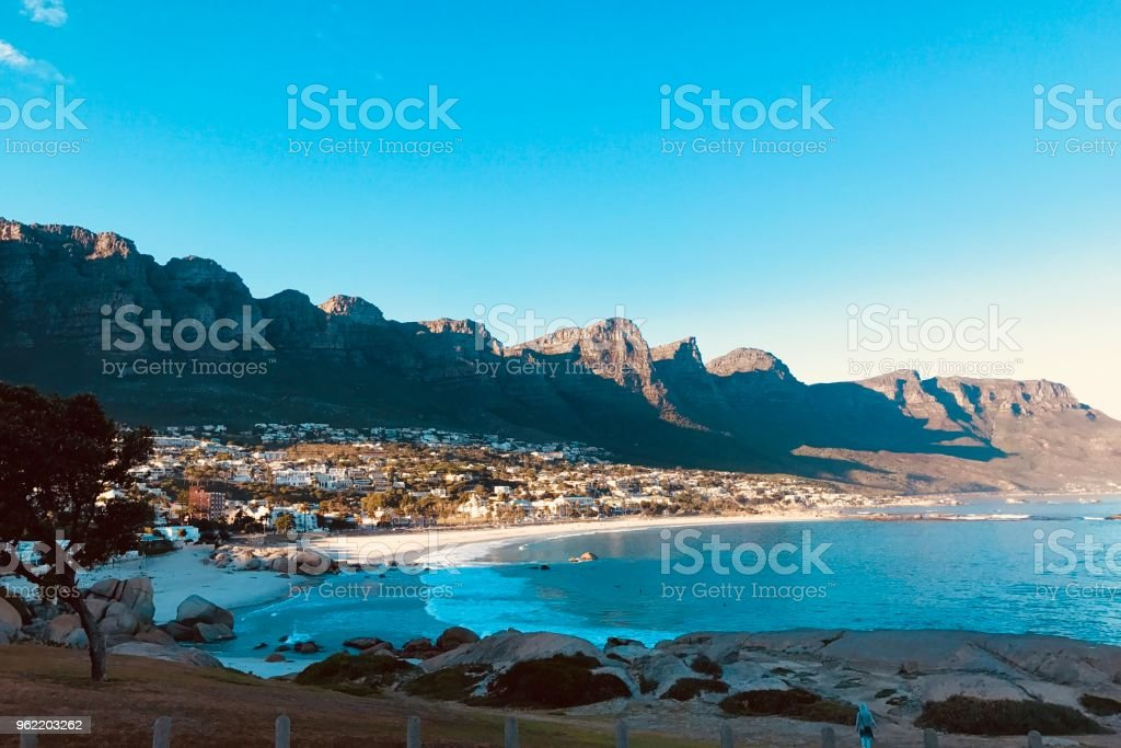 Ocean and Mountains stock photo