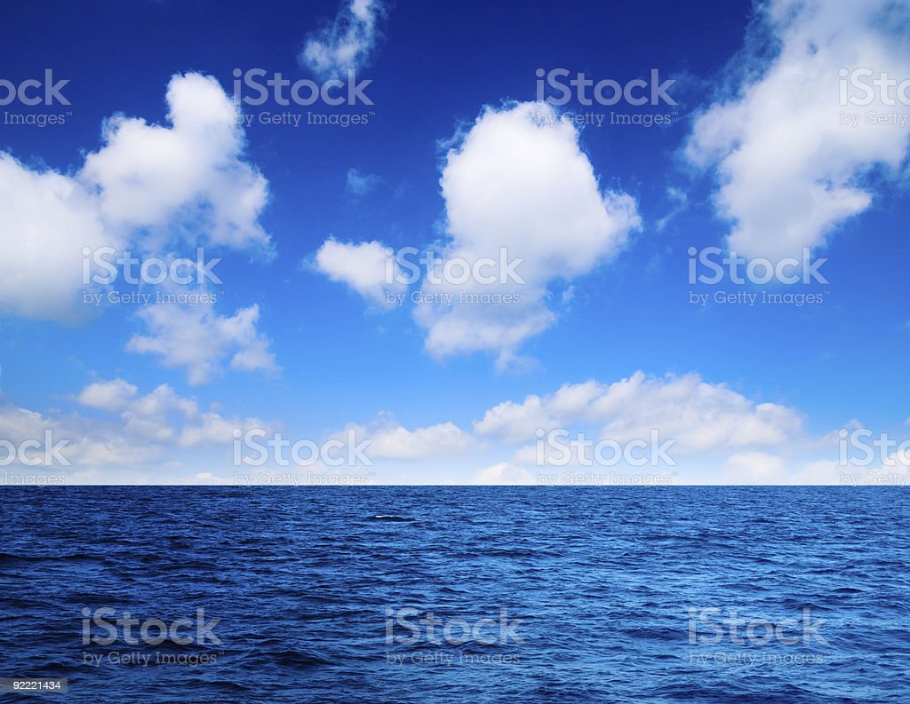 ocean and perfect sky royalty-free stock photo