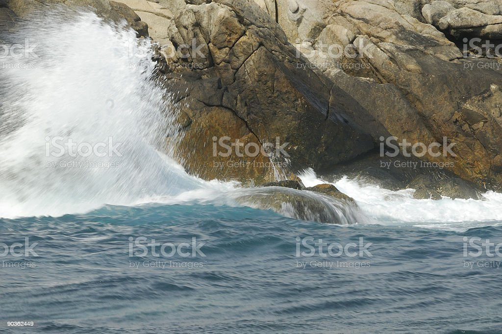 Ocean and rock royalty-free stock photo