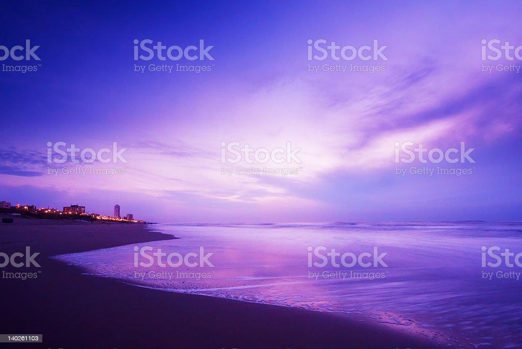 ocean at night royalty-free stock photo