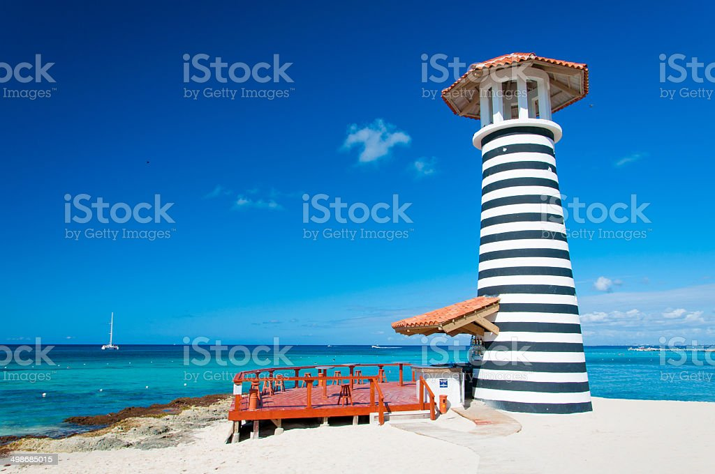 Ocean Bar, Dominican Republic, La Romana stock photo
