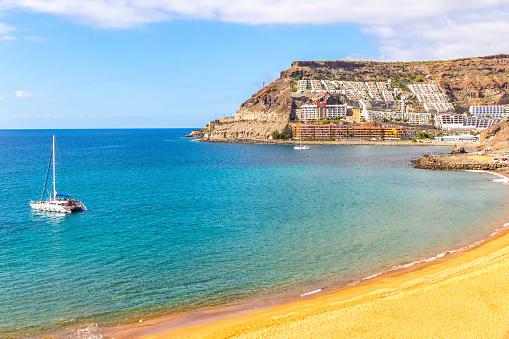 Ocean bay near Tauro beach (Playa de Tauro), Gran Canaria, Spain