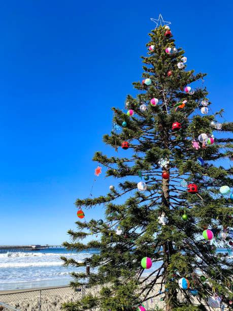 Ocean Beach Christmas stock photo