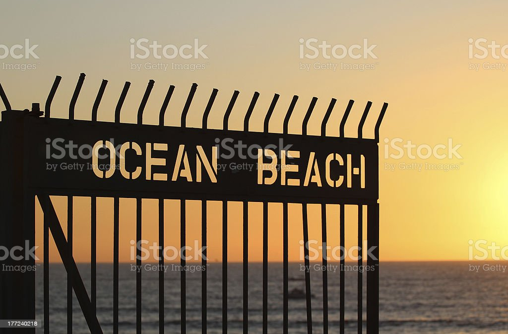 Ocean Beach Sunset royalty-free stock photo