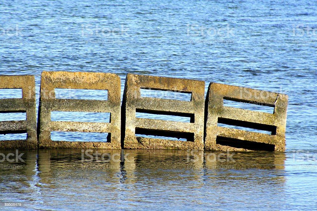 Ocean Blockade Close-Up royaltyfri bildbanksbilder