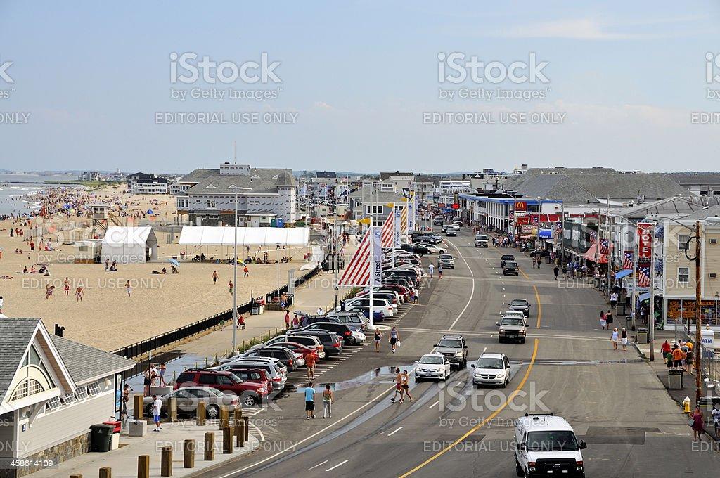 Ocean Blvd., Hampton Beach NH (day) stock photo