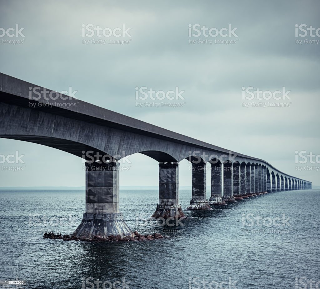 Ocean Bridge royalty-free stock photo