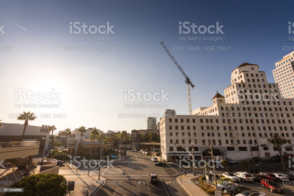 Ocean Center Building in Long Beach, CA stock photo