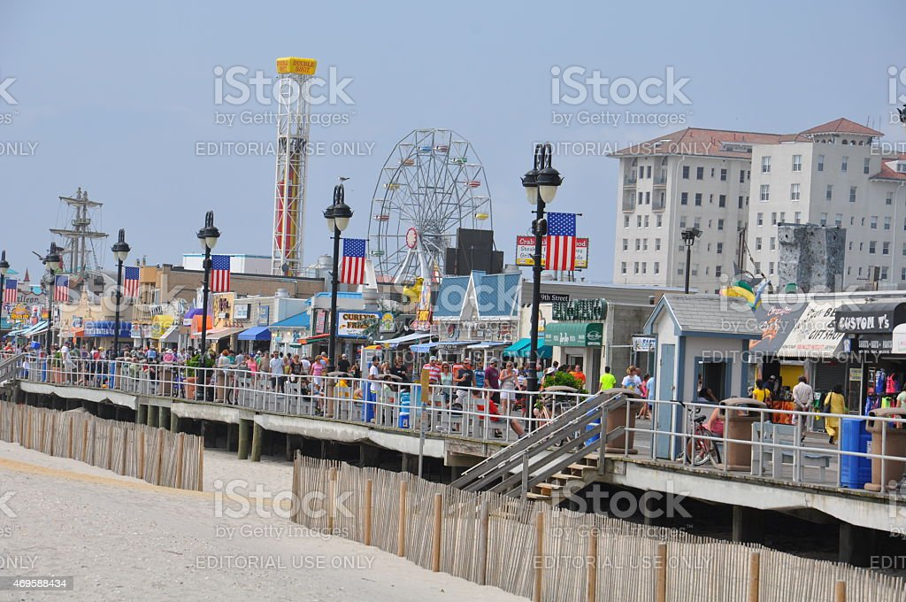 Ocean City Boardwalk in New Jersey stock photo