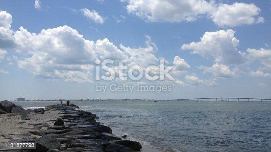 istock Ocean City Bridge from Longport, New Jersey 1131877793