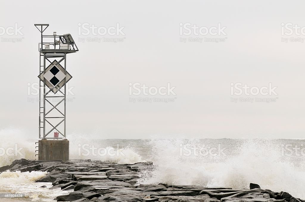 Ocean City Inlet Storm Surge stock photo