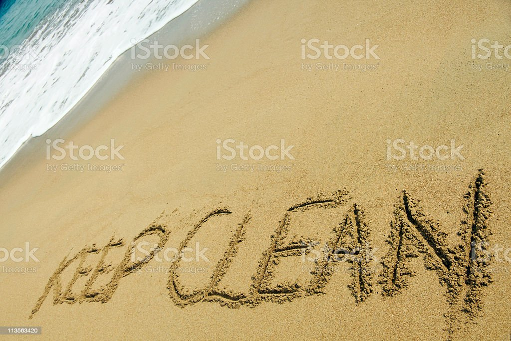 Ocean Clean Up stock photo