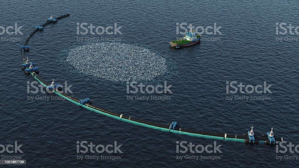 Ocean Cleaning System royalty-free stock photo