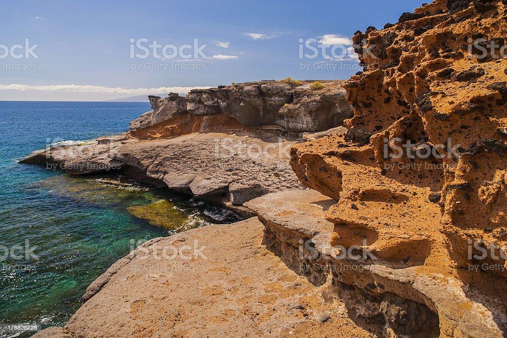 Ocean coast of Tenerife. stock photo