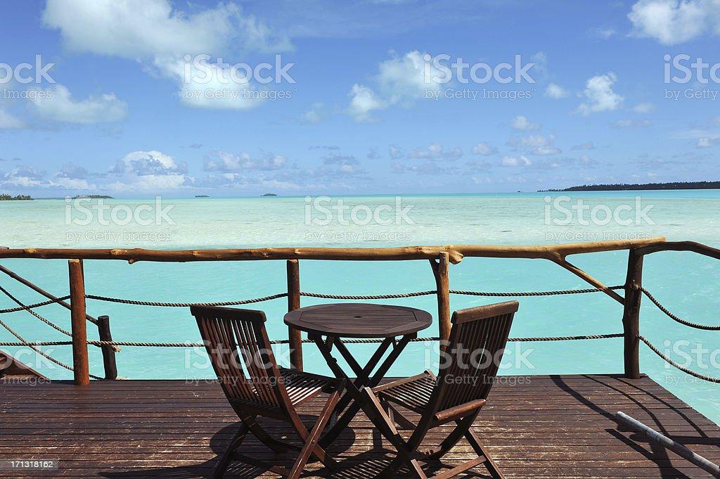 ocean deck stock photo
