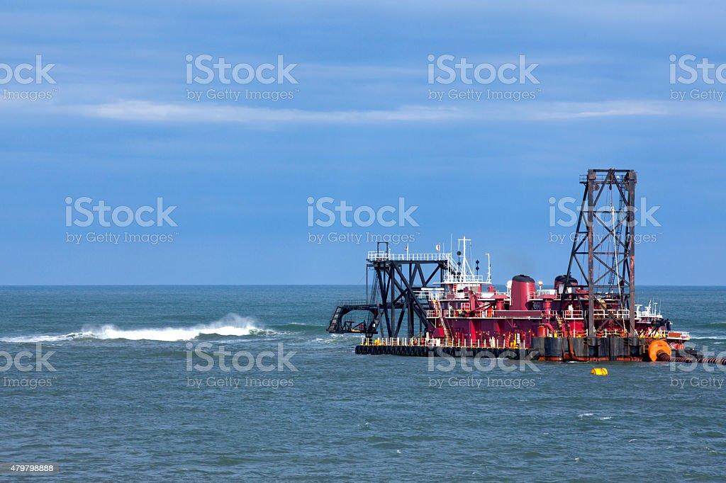 Ocean Dredge stock photo