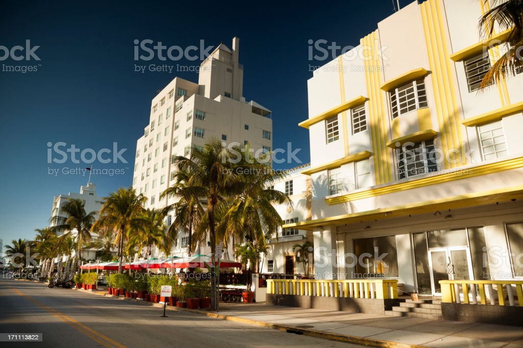 Ocean Drive in Miami royalty-free stock photo