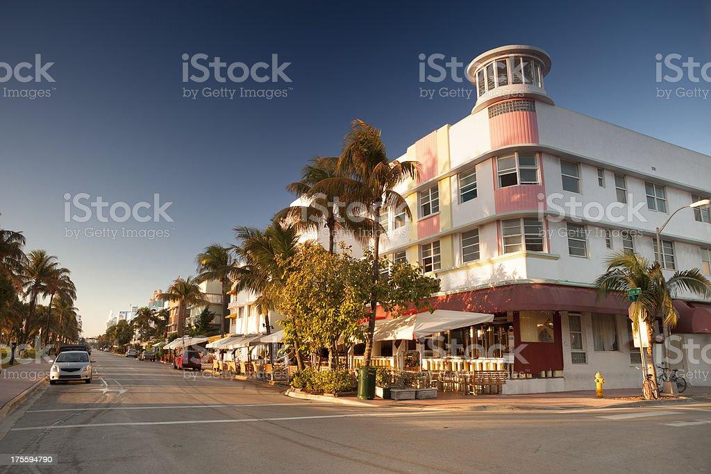 Ocean Drive in Miami stock photo