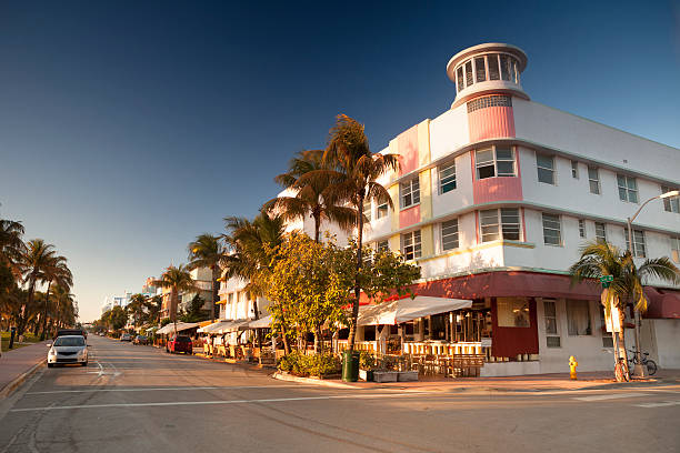 Ocean Drive in Miami stock photo