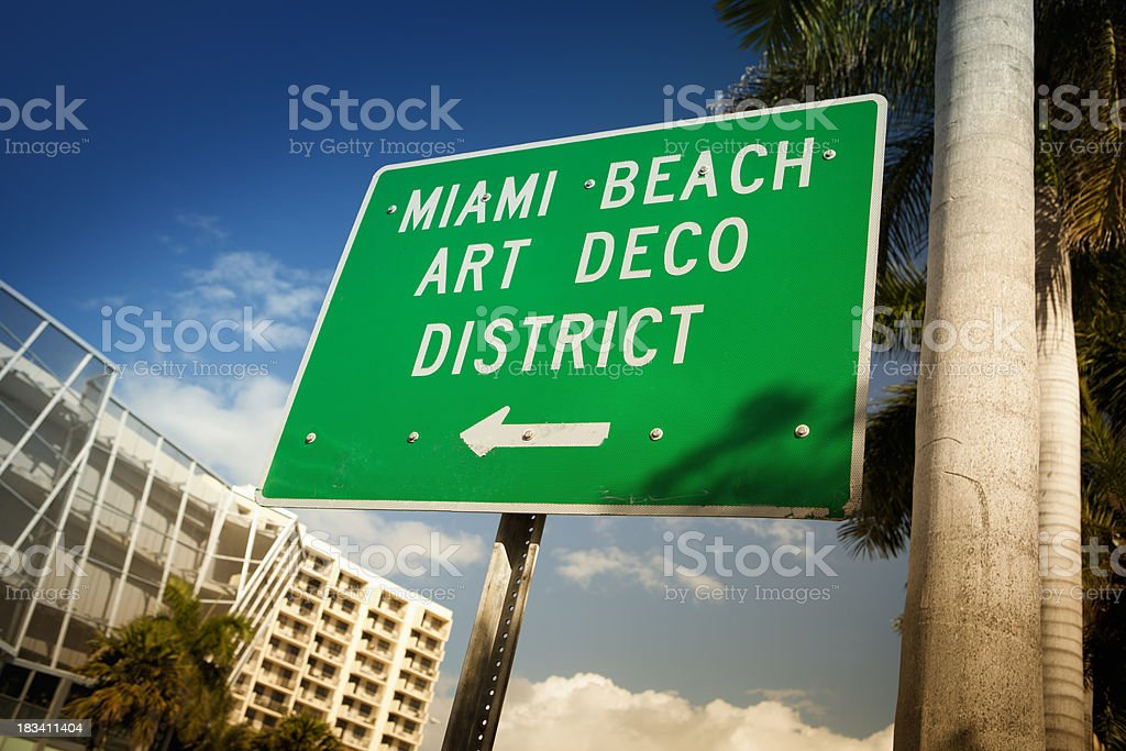 Ocean Drive in Miami royalty-free stock photo