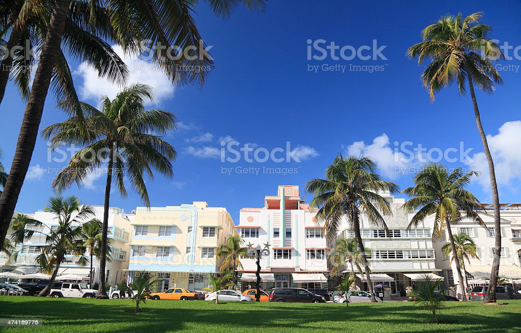 Ocean Drive, Miami Beach, Florida stock photo