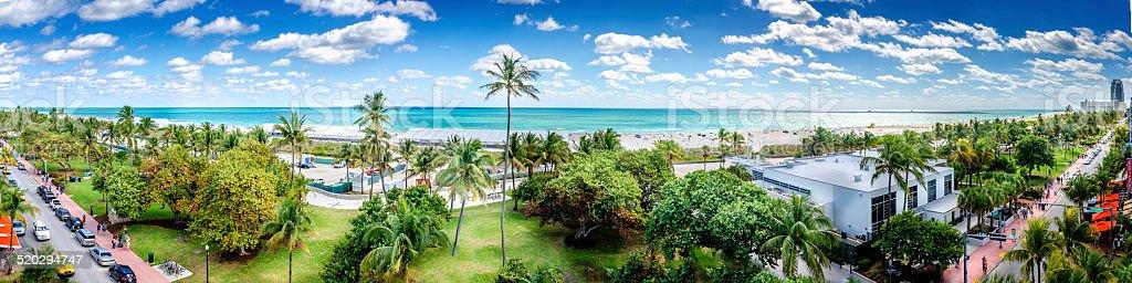 Ocean Drive Panorama stock photo