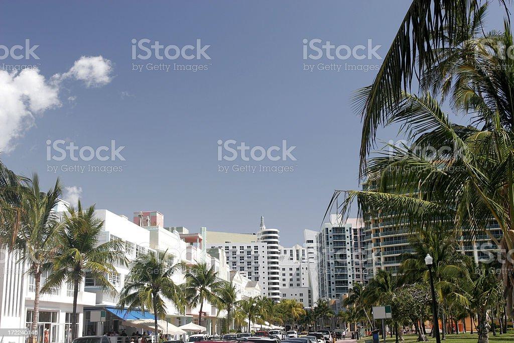 Ocean Drive royalty-free stock photo