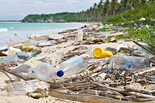 ocean dumping - ocean plastic stock pictures, royalty-free photos & images