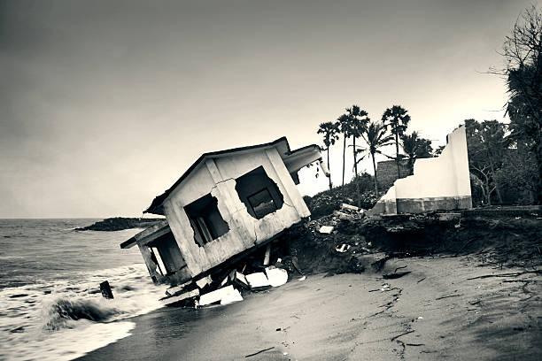 Ocean erosion stock photo