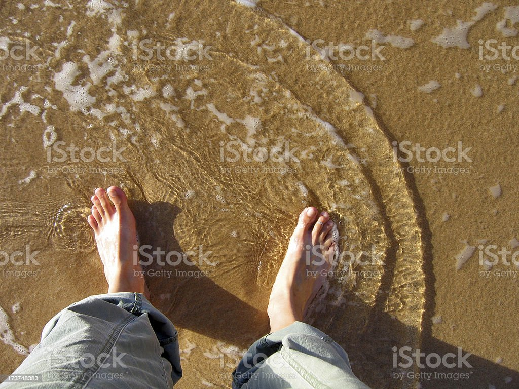 Ocean Feet royalty-free stock photo