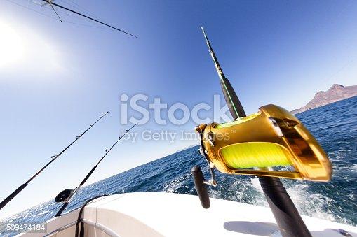 156872766istockphoto Ocean Fishing Reel on Boat at Sea 509474184