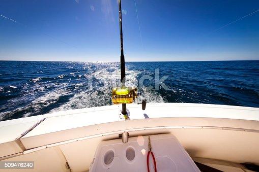 156872766istockphoto Ocean Fishing Reel on Boat at Sea 509476240